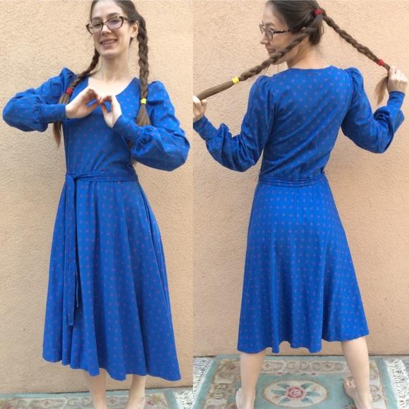 Vintage Dresses & Skirts - Vintage Anne Get UR Gun 80's Cotton Prairie Dress